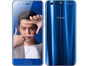 Honor 9 Dual-SIM 64GB ROM + 4GB RAM (GSM Only   No CDMA) Factory Unlocked 4G/LTE Smartphone (Blue) - International Version