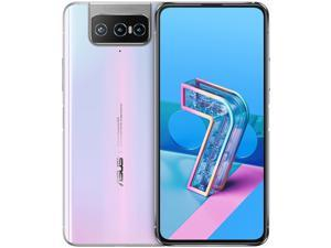 ASUS ZenFone 7 Dual-SIM 128GB ROM + 8GB RAM (GSM Only | No CDMA) Factory Unlocked 5G Android Smartphone (Pastel White) - International Version