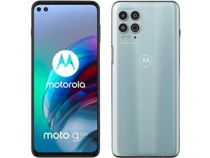 Motorola Moto G100 Dual-SIM 128GB ROM + 8GB RAM (GSM Only | No CDMA) Factory Unlocked 5G Smartphone (Iridescent Ocean) - International Version
