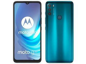 Motorola Moto G50 Dual-SIM 64GB ROM + 4GB RAM (GSM Only | No CDMA) Factory Unlocked 5G Android Smartphone (Aqua Green) - International Version