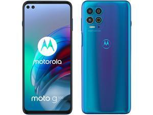 Motorola Moto G100 Dual-SIM 128GB ROM + 8GB RAM (GSM Only | No CDMA) Factory Unlocked 5G Smartphone (Iridescent Sky) - International Version