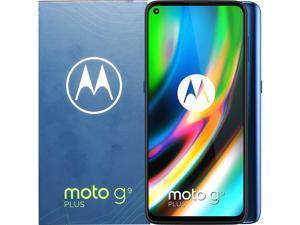 Motorola Moto G9 Plus Dual-SIM 128GB (GSM Only | No CDMA) Factory Unlocked 4G/LTE Smartphone (Navy Blue) - International Version