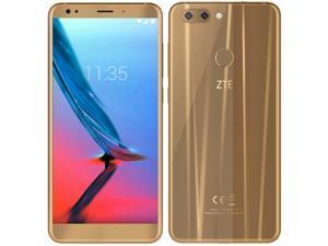 ZTE Blade V9 Dual-SIM 32GB ROM + 3GB RAM (GSM Only | No CDMA) Factory Unlocked 4G/LTE Smartphone (Gold) - International Version