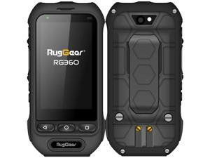 RugGear RG360 Dual-SIM 8GB ROM + 1GB RAM (Only GSM   No CDMA) Factory Unlocked 4G/LTE Smartphone (Black) - International Version