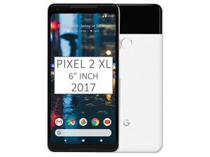 "Google Pixel 2 XL (2017) 64GB G011C, 6"" inch (No CDMA, GSM only) Factory Unlocked SIM-free 4G/LTE Smartphone (Black & White)"