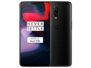 OnePlus 6 A6003 Dual-SIM 128GB (No CDMA, GSM only) Factory Unlocked 4G/LTE Smartphone - Midnight Black