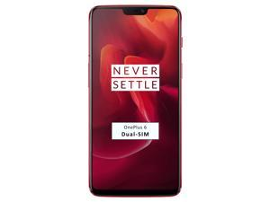 OnePlus 6 A6003 Dual-SIM 128GB (No CDMA, GSM only) Factory Unlocked 4G/LTE Smartphone - Red