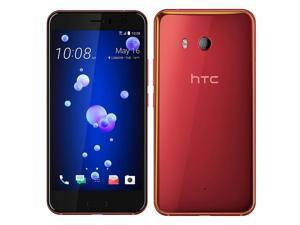 HTC U11 64GB (No CDMA, GSM only) Factory Unlocked 4G/LTE Smartphone - Red