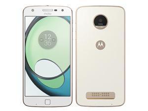 Motorola Moto Z Play XT1635-02 32GB (No CDMA, GSM only) Factory Unlocked 4G/LTE Smartphone - White/Gold