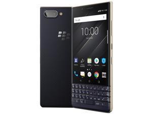 BlackBerry KEY2 LE BBE100-4 Dual-SIM 64GB QWERTZ Keypad (No CDMA, GSM only) Factory Unlocked 4G/LTE Smartphone - Champagne/Gold