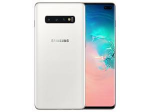 Samsung Galaxy S10+ Plus 512GB / 8GB RAM SM-G975F Hybrid/Dual-SIM (No CDMA, GSM only) Factory Unlocked 4G/LTE Smartphone - Ceramic White