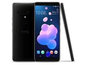 HTC U12+ Plus Dual-SIM 64GB Android (No CDMA, GSM only) Factory Unlocked 4G/LTE Smartphone - Ceramic Black