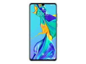 Huawei P30 Dual/Hybrid-SIM 128GB ELE-L29 Factory Unlocked 4G/LTE Smartphone - Aurora Blue