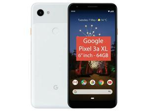 "Google Pixel 3A XL (2019) G020B 64GB (6"" inch, GSM, 4G/LTE, CDMA) Factory Unlocked Smartphone - Clearly White"
