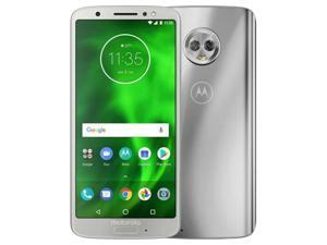 Motorola Moto G6 Dual-SIM XT1925 32GB Factory Unlocked 4G/LTE Smartphone - Silver