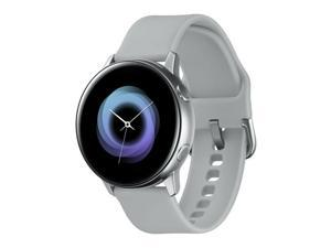 "Samsung Galaxy Watch Active SM-R500 (1.1"" Display, 20mm Band) 4GB Tizen OS Bluetooth Smartwatch - Silver"