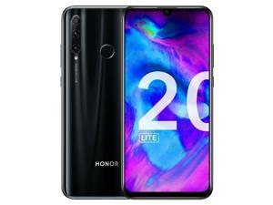 HONOR 20 Lite Dual-SIM 128GB ROM / 4GB RAM Factory Unlocked (GSM Only, No CDMA) 4G/LTE Smartphone - Night Black
