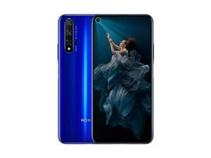 HONOR 20 Dual-SIM 128GB / 6GB RAM (GSM Only, No CDMA) Factory Unlocked 4G/LTE Smartphone - Sapphire Blue