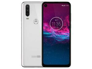 Motorola One Action Dual-SIM XT2013 128GB Factory Unlocked 4G/LTE Smartphone - Pearl White