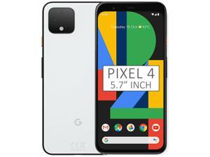 Google Pixel 4 G020M 64GB 5.7 inch Android (GSM Only, No CDMA) Factory Unlocked 4G/LTE Smartphone - Clearly White