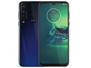 Motorola Moto G8 Plus Dual-SIM XT2019 64GB (GSM Only, No CDMA) Factory Unlocked Android 4G/LTE Smartphone - Cosmic Blue