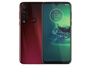 Motorola Moto G8 Plus Dual-SIM XT2019 64GB (GSM Only, No CDMA) Factory Unlocked Android 4G/LTE Smartphone - Crystal Pink