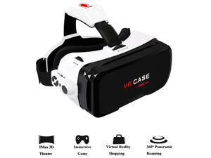 "3D VR Headset,Werleo 360° Virtual Reality Glasses Video Games 3D Movie Glass VR Box with Bluetooth Remote Controller Goggles Cardboard for Android Samsung Galaxy iPhone 7 plus 6s 4.0""- 6.0"" Smartphone"