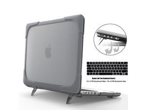"""MacBook Pro 13 Inch Case 2017 & 2016 Release A1706 A1708 Shell , Coxtech Rubberized Hard Case Cover with Kickstand Keyboard Skin For Apple Macbook Pro 13"""" with / without Touch Bar and Touch ID - Black"""