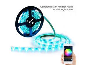 LED Light Strip RGB Strip Lights LED Tape Lights Compatible with Alexa and Google Home 150 5050 SMD LEDs Smart Wifi Strip Lights