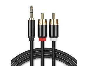 RCA Audio Cable 3.5mm AUX Male to 2-Male RCA Cable Y Splitter Stereo Audio Cable