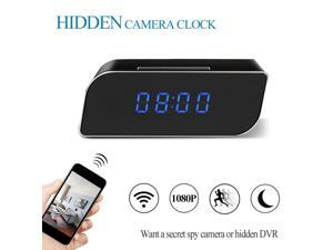 WIFI Hidden Camera Spy Camera Alarm Clock HD 1080P Wireless Mini Video Recorder with Motion Detection and Night Vision, Nanny Cam for Home Security Surveillance for IOS Android Windows