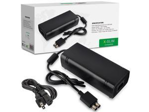 Power Supply Cord AC Adapter Power Brick Replacement Charger for Xbox 360 Slim 360 S with Cable Auto Voltage 100-240V