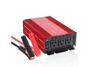 1000W Car Power Inverter DC 12V to 110V 3 AC Outlets Home Car RV Solar Power Converter for Household Appliances in case Emergency Hurricane Storm and Outage