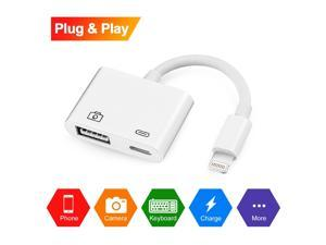 Lighting to USB Camera Adapter Werleo Lighting to USB 3.0 Female OTG Adapter Cable With USB Power Interface Data Sync Charge Cable For iPhone iPad
