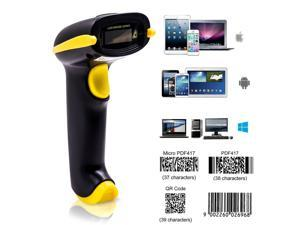 Werleo 3-In-1 2D Barcode Scanner Bluetooth & 2.4G Wireless & USB Wired CMOS Image Bar Code Reader For QR PDF417 Data Matrix Screen Code USB Scanner with Mobile Payment Computer Screen
