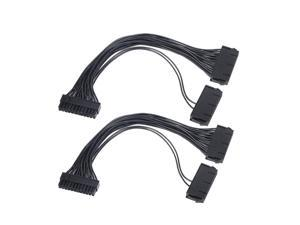 Power Supply Splitter, Dual PSU Cable Adapter 24 Pin 20+4 Pin ATX Motherboard Adapter Extension Cable Dual 24-Pin Mining Power Adapter 12 Inch (30CM) (2-Pack)