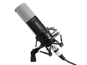 Professional Condenser Microphone WERLEO Music Studio MIC Podcast Recording Microphone Kit With Stand Shock Mount for PC Laptop Computer Broadcasting YouTube Vlogging Skype Chatting Gaming