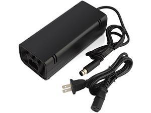 XBOX 360 E Power Supply Cord Werleo Power Supply AC Adapter Charger Replacement for Xbox 360 Elite Console Auto Voltage Black ( Not fit the XBOX 360 / XBOX 360 Slim )