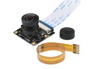Werleo Raspberry Pi Camera Module Wide-Angel Fish-Eye Camera Lenses 5 Megapixels 1080P OV5647 Sensor with Pi Zero Ribbon Cable & FPC Cable for Raspberry Pi 3B+ 3B 2B Zero