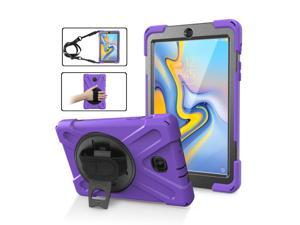 Samsung Galaxy Tab A 8.0 2018 Case Full-Body Rugged Protective Case with 360° Rotatable Hand Strap Kickstand Shoulder Strap Shockproof Cover for for Samsung Galaxy Tab A 8.0 SM-T387 Verizon/Sprint
