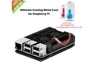 Werleo Raspberry Pi 3 Model B+ Case Raspberry Pi Metal Raspberry Pi 3 Model B Case With Dual Fan Aluminium Alloy Raspberry Pi Fan Heatsink Case for Raspberry Pi 3 B+  and Raspberry Pi 3 B