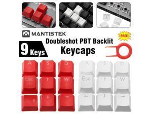 DIY WASD Direction Keys Caps Double Color Injection Molding PBT Keycaps Key Caps-White