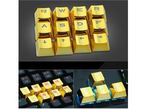 Keyboard Key Cap Set FPS MOBA Gaming Keycaps-Gold