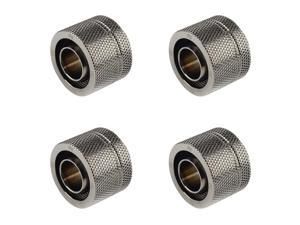 90/° Triple Rotary CC5 Ultimate Bitspower G1//4 to 1//2 ID Black Sparkle 3//4 OD Compression Fitting for Soft Tubing