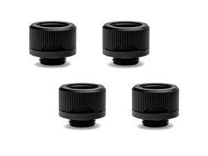 EKWB EK-Quantum Torque HDC-16 Compression Fitting for EKWB Rigid Tubing, 16mm OD, Black, 4-pack
