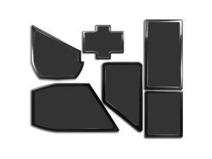 DEMCiflex Dust Filter Kit for NZXT Phantom 530 (6 Filters), Black Frame / Black Mesh