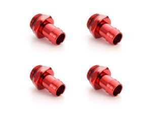 Enzotech G1//4 10mm Male to Female Fitting Red 4-Pack