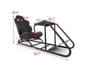 VEVOR Racing Simulator Cockpit Gaming Chair With Stand Height Adjustable Stretchable