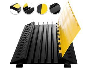 VEVOR 5 Channel Cable Protectors Rubber Cable Ramps Driveway Cable Protector