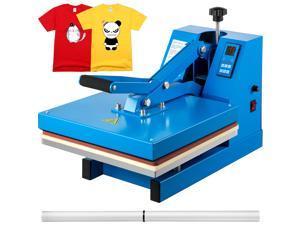 "VEVOR Heat Press 15""X15"" Clamshell Sublimation Transfer Machine T-Shirt DIY 1400W"